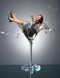 Fille de Martini Images stock