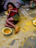 Fille de mendiant images stock