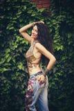Fille de mode d'été de Boho images stock