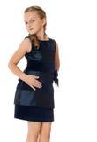Fille de mode dans la belle robe photographie stock