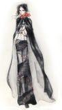 Fille de mode de Goth illustration de vecteur