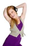 Fille de musique de danse Photo libre de droits