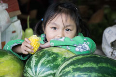 Fille de Myanmar Photographie stock libre de droits