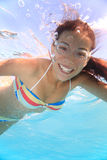 Fille de natation Photos libres de droits