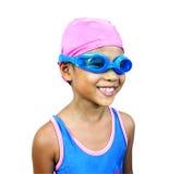 Fille de natation Photographie stock libre de droits