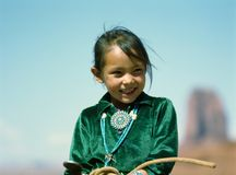 Fille de Navajo Images stock