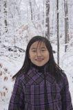 Fille de neige Photographie stock