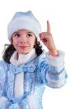 Fille de neige Photo stock