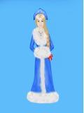 Fille de neige dans la robe bleue Photographie stock libre de droits