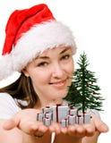 Fille de Noël Photographie stock libre de droits