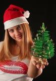 Fille de Noël Image stock