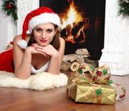 Fille de Noël Photo libre de droits