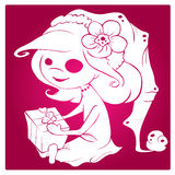 Fille de Noël Illustration de Vecteur