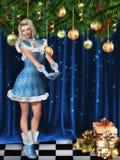 Fille de Noël Photo stock