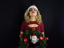 Fille de Noël Photos libres de droits