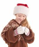 Fille de Noël de chéri Photographie stock libre de droits