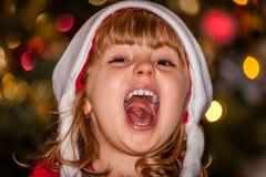 Fille de Noël heureux Photographie stock libre de droits