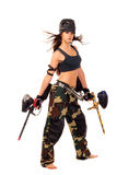 Fille de Paintball Photos stock