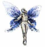 Fille de papillon de l'espace Photo libre de droits
