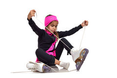 Fille de patineur Photographie stock libre de droits