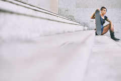 Fille de patineur Images libres de droits