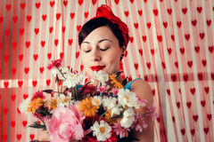 Fille de pin-up Photos libres de droits