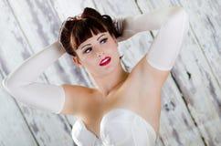 Fille de pin-up rousse sexy Image libre de droits