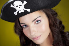 Fille de pirate Photo stock