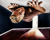Fille de plafond photos libres de droits