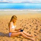 fille de plage photo libre de droits