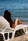 fille de plage Photos stock