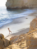 Fille de plage de Centianes Image libre de droits