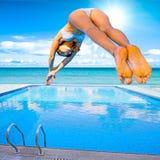 fille de plongée Image libre de droits