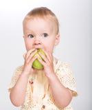 fille de pomme peu Image stock