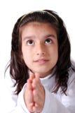 Fille de prière images stock