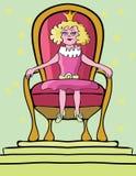 Fille de princesse sur le trône Photographie stock libre de droits