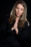 Fille de prière Photographie stock libre de droits