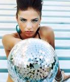 Fille de réception de disco Photo libre de droits