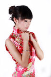 fille de robe de Chinois traditionnelle Photo stock