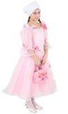 fille de robe rosâtre Images stock