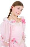 fille de robe rosâtre Photos stock