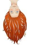 Fille de roux avec de longs cheveux, bandes et petites cloches Photos stock