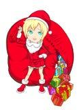 Fille de Santa illustration stock