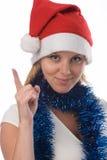 Fille de Santa Image libre de droits
