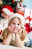 Fille de Santa Photographie stock libre de droits