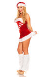 Fille de Santa Claus Images stock