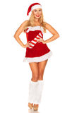 Fille de Santa Claus Photos stock