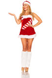 Fille de Santa Claus Images libres de droits