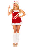 Fille de Santa Claus Photo libre de droits