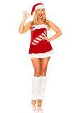 Fille de Santa Claus Photographie stock